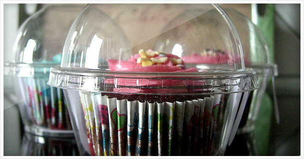 Another way to carry cupcakes: Clear box carrier pods