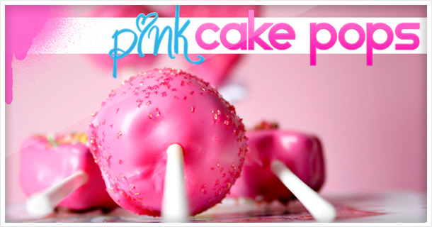 Lovely, pink birthday Cake Pops for Mom – How to make cake pops