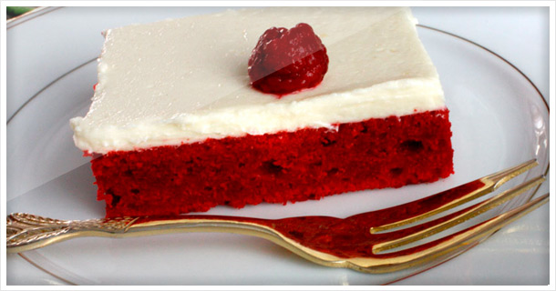 Red Velvet Cake with most delicious frosting!