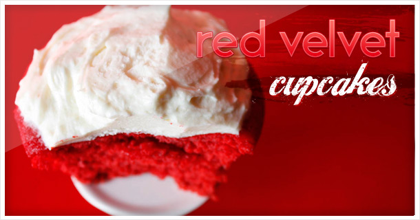 Hello rainy Monday: Delicious Red Velvet Cupcakes will bright up your day!