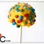 summer yellow cake pops