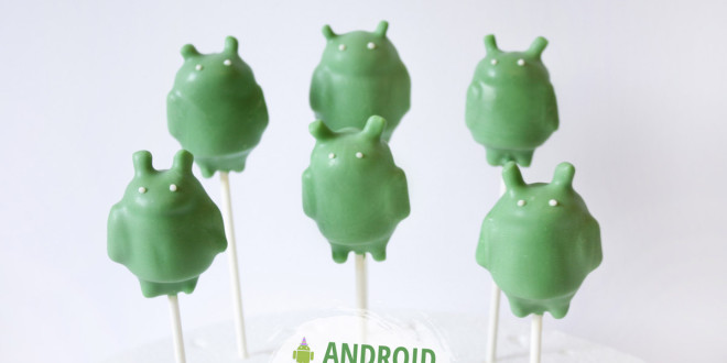 Cute robot Google Android Cake Pops