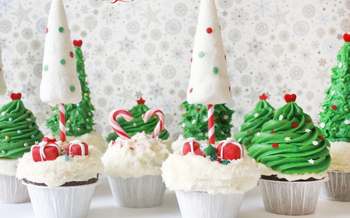 Christmas Winter Wonderland treats: Cupcakes + How to make christmas ...