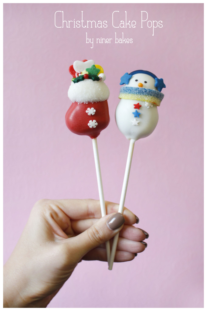 Christmas Tree Stocking Snowman Cake Pops