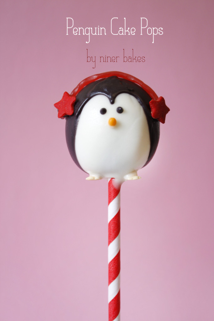 Frosty Christmas Winter, Penguin, Holly Leaf and Santa Hat Cake Pops - Snowman Cake Pops