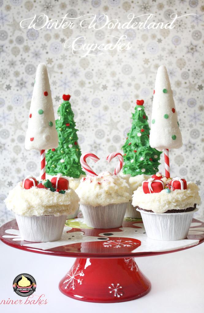 Weihnachts Winter Wunderland: Cupcakes + wie mache ich Weihnachtsbaum Cupcakes von niner bakes