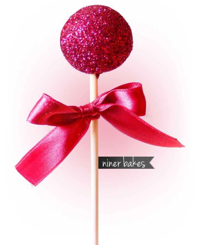 Glitter Sparkling Cake Pops - Festive