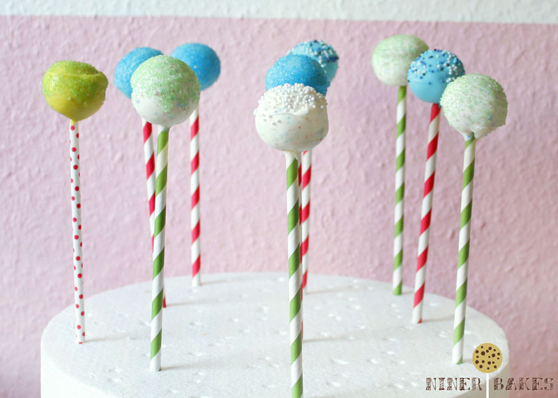 Cookie Dough Cake Pops by niner bakes - recipe and how to instructions - cookie dough lovers - Safe-to-Eat Eggless Cookie Dough Recipe