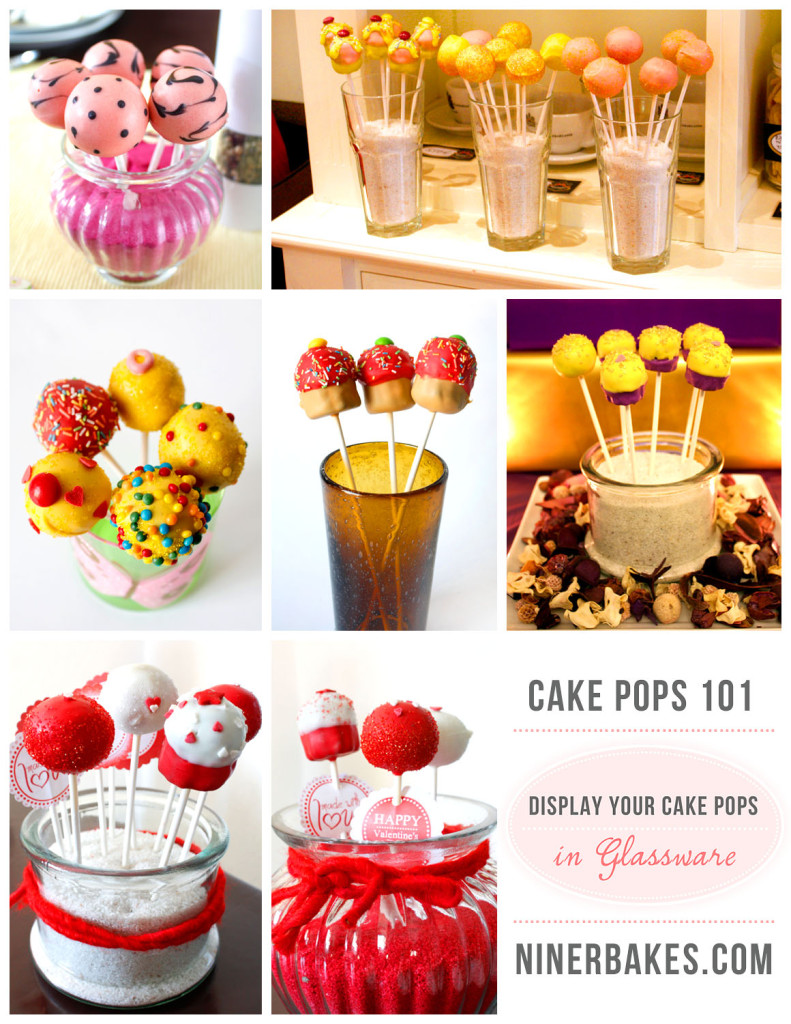 How to display your cake pops - Guide to display cake pops - Cake Pops 101 - Glassware