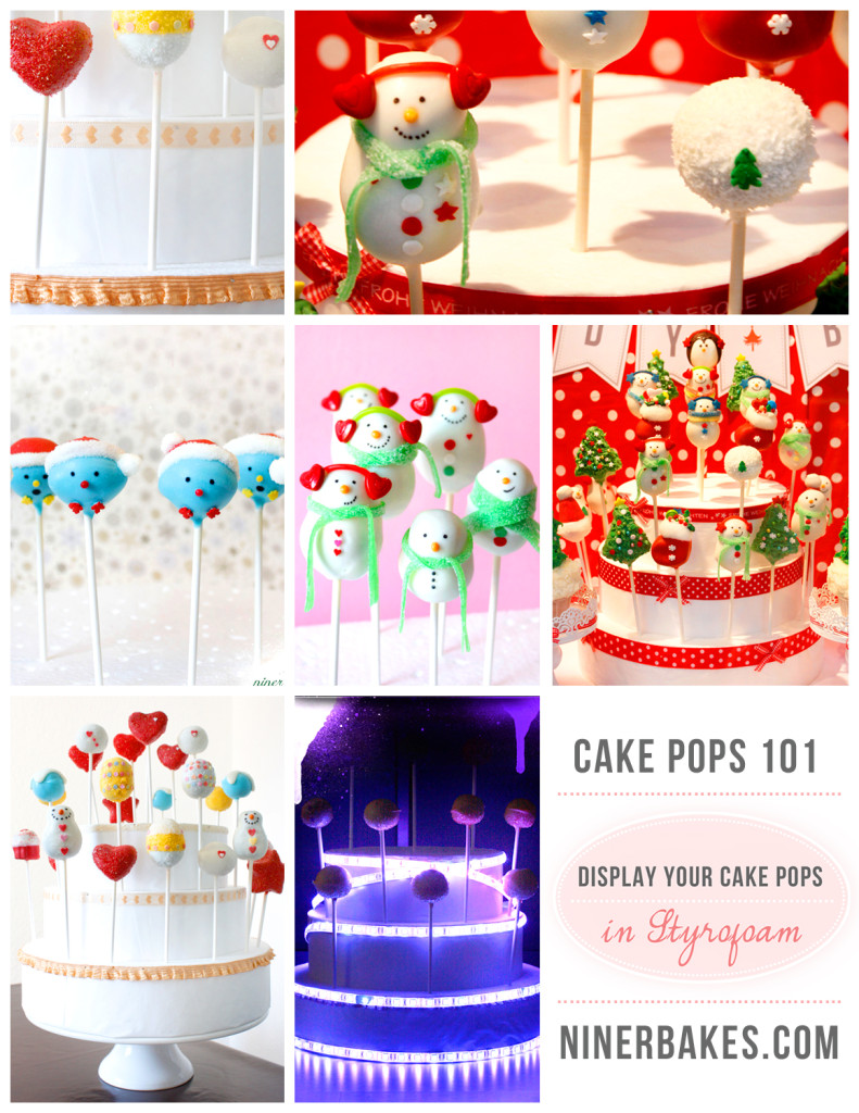 How to display your cake pops - Guide to display cake pops - Cake Pops 101 - Styrofoam Cake Pop Tower