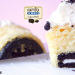 Vanille Cupcakes mit leckerer OREO berraschung &amp; Marshmallow Frosting on top!