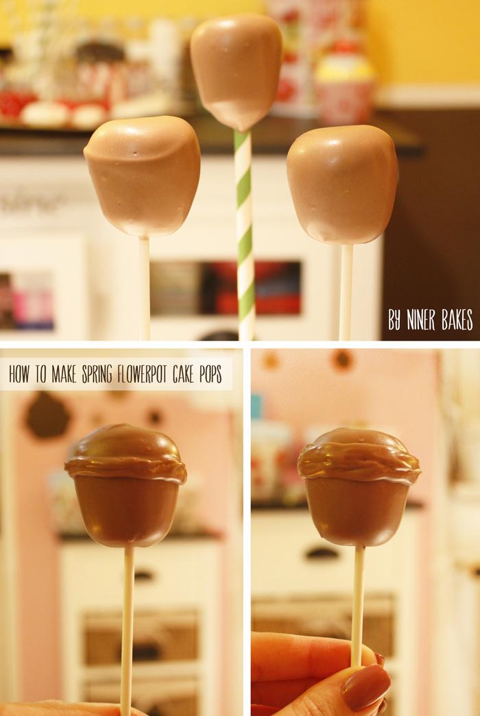 oster cake pops - frühling  blumentopf cake pops - anleitung - tutorial - von niner bakes
