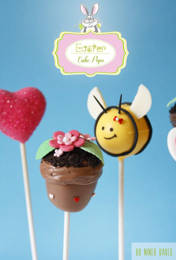 easter cake pops - flowerpot cake pops tutorial bee cake pops - how to tutorial