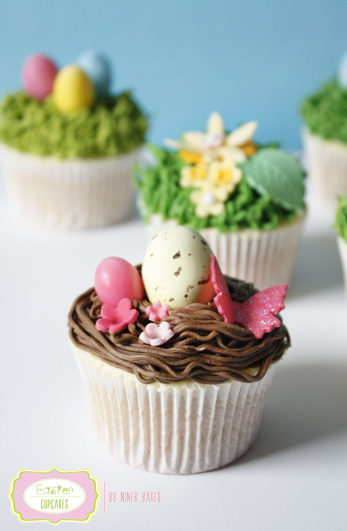 Happy Easter Treats: Easter Nest Cupcakes with Easter Eggs