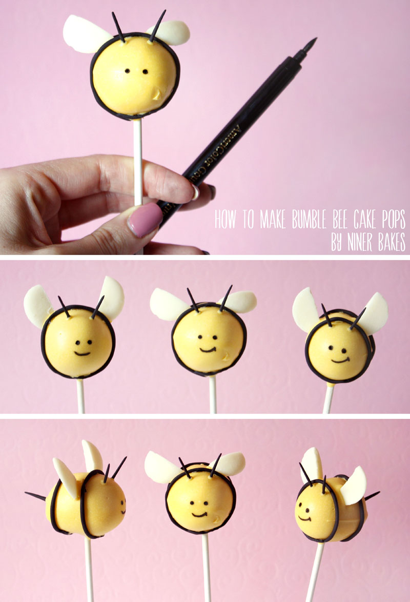 tutorial - hummel bienen cake pops - niner bakes
