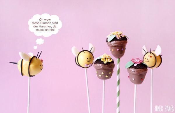 tutorial - hummel bienen cake pops - niner bakes - oster cake pops - frühlings pops
