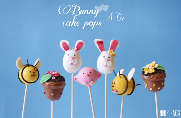 easter bunny cake pops - how to - by niner bakes