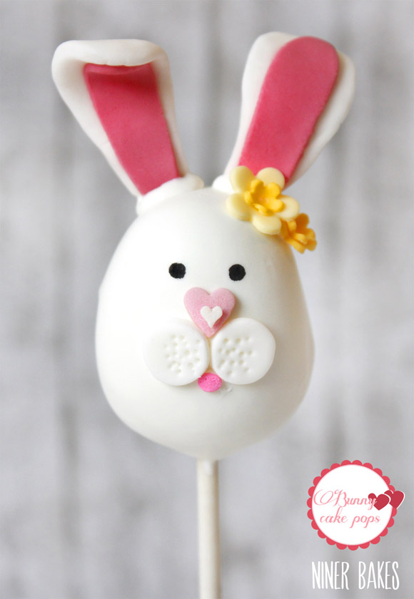 easter bunny cake pops - how to - by niner bakes 01