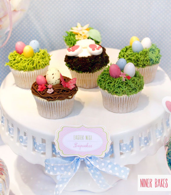 easter spring candy bar - sweet table - niner bakes