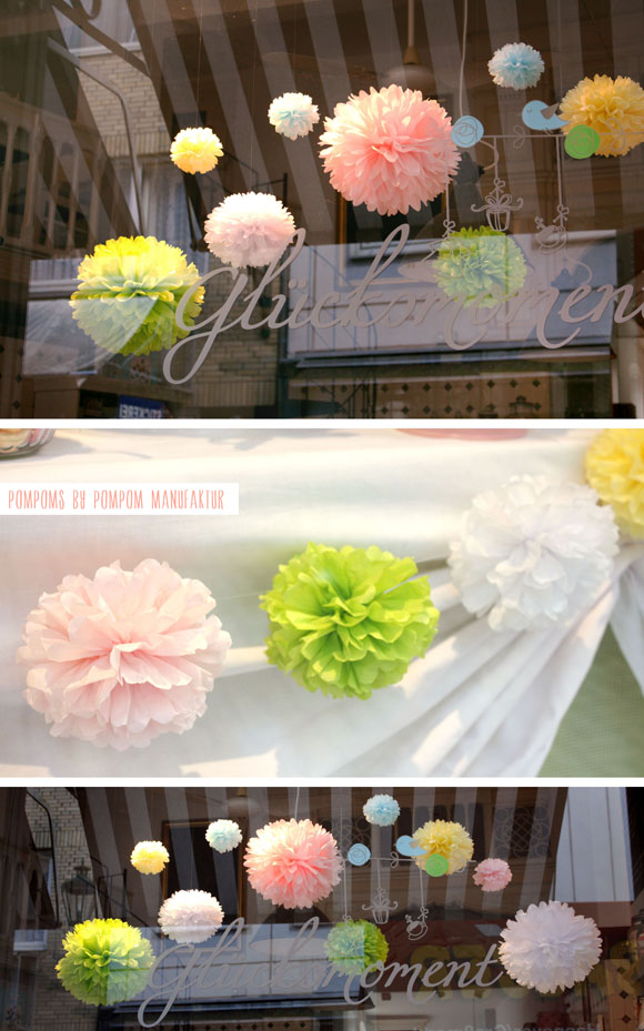 Pom Poms for easter spring candy bar - sweet table - niner bakes
