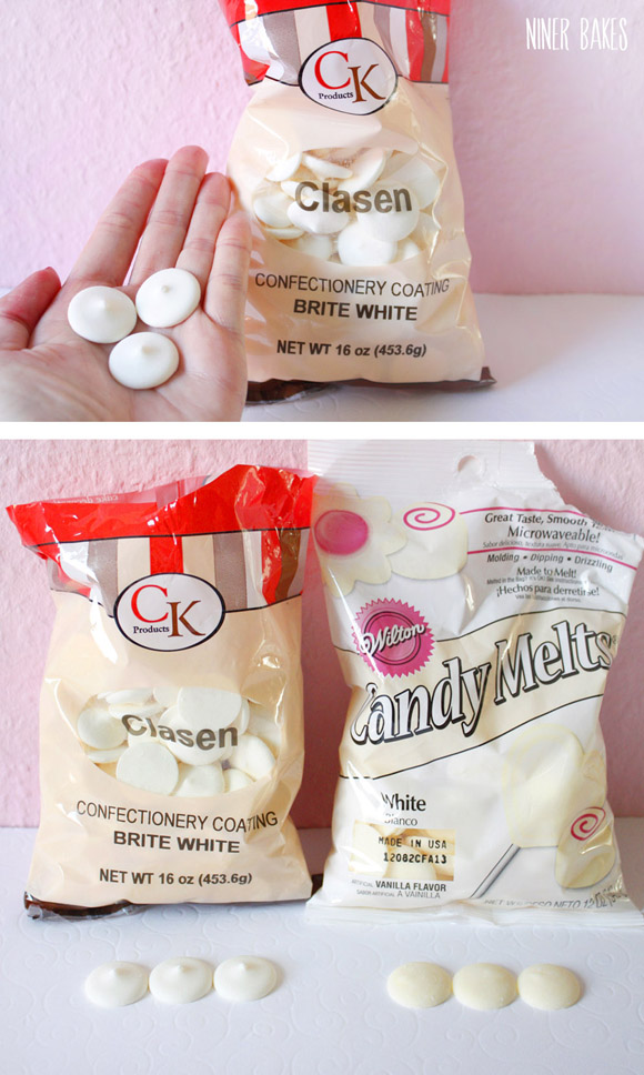 super white candy melts compared to regular white candy coating