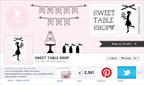 Sweet Table Shop Facebook Page