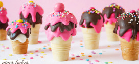 {National Ice Cream Day} niner's Ice Cream Cone Cake Pops
