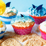 {Summertime, Vacation time} Beach, Ocean & Shark Cupcakes