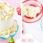 heavenly vanilla cake with cookie dough layer and vanilla bean frosting by niner bakes - tutorial - anleitung