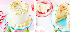 {Heavenly} Fluffy Vanilla – Cookie Dough – Layer Cake with mouthwatering Vanilla Frosting