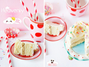 Heavenly Fluffy Vanilla Cookie Dough Layer Cake with mouthwatering Vanilla Bean Frosting