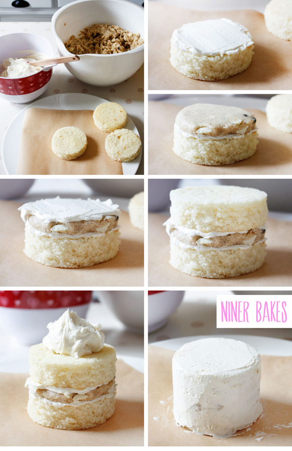 Step By Step 4 Vanilla Cake Assembly By Niner Bakes