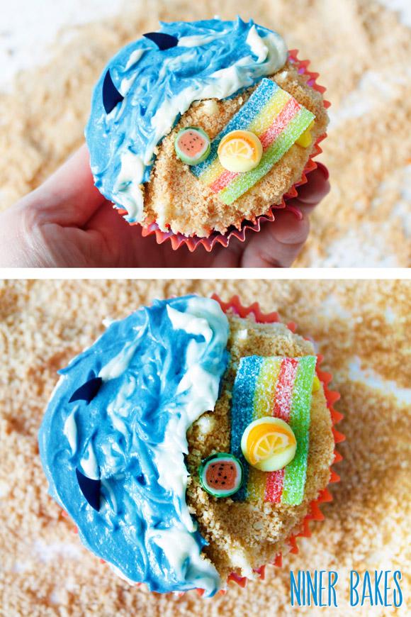 summer beach cupcake by niner bakes