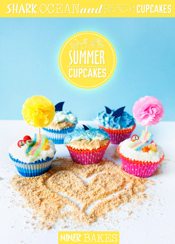 summer beach cupcakes by niner bakes