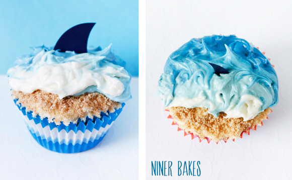 summer beach cupcakes waves ocean shark example