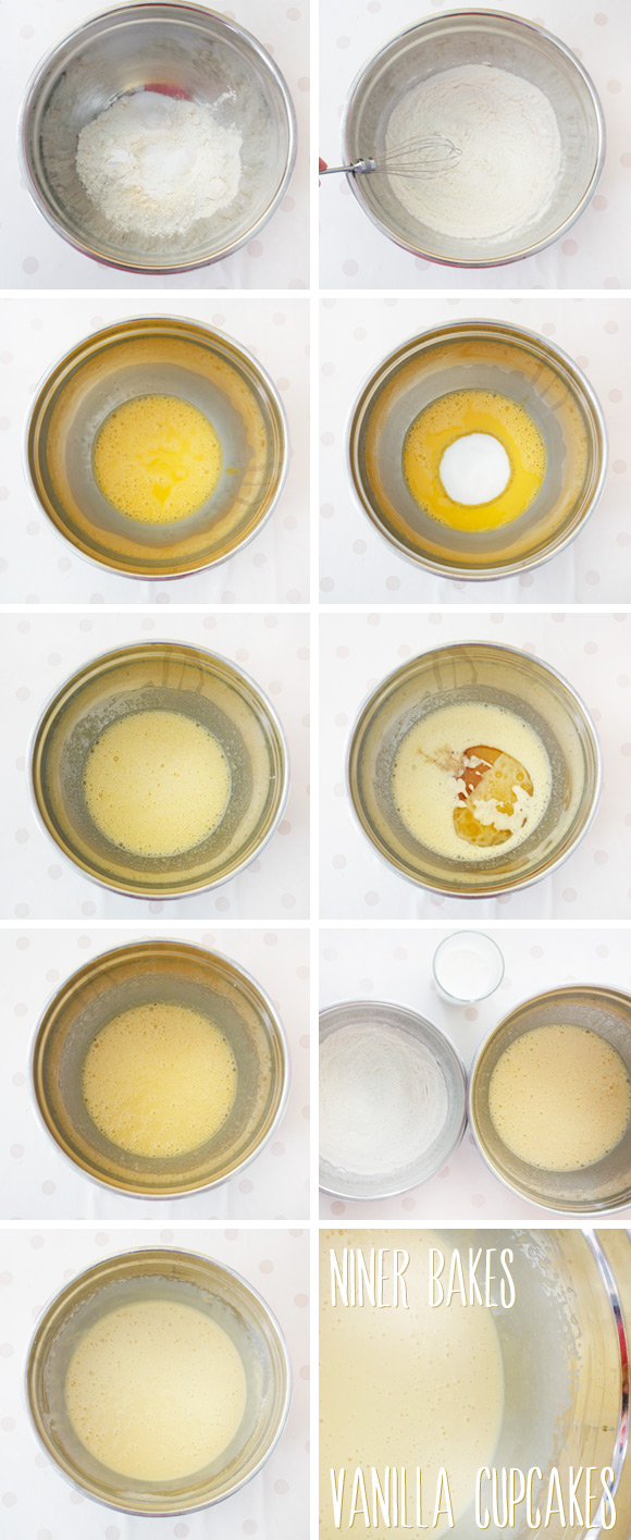 how to make vanilla cupcakes step by step