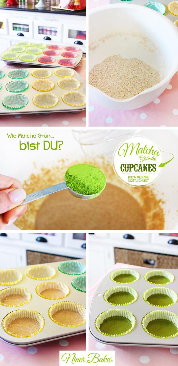 Vegane Grüntee Matcha Cupcakes - Rezept von niner bakes - How Matcha Green Can You get