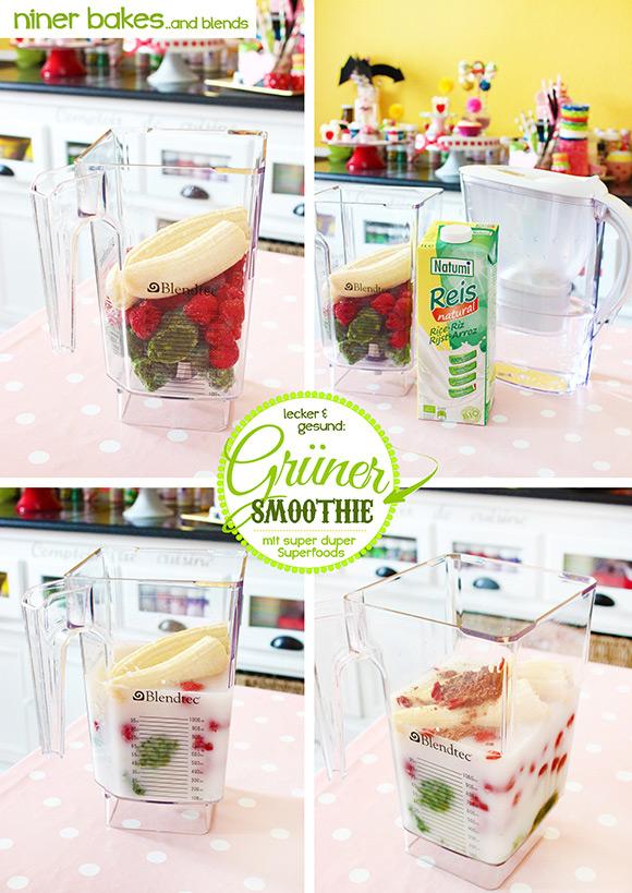 Super Grüner Smoothie, Rezept von niner bakes, niner blends