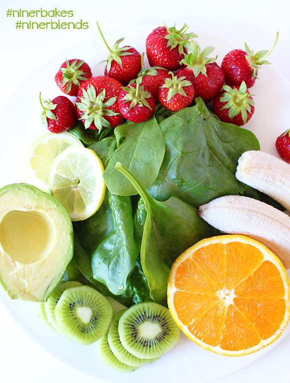 The formula to get your green on - Green Smoothies for beginners, easy recipes, testimony from niner bakes, niner blends. How to make green smoothies.
