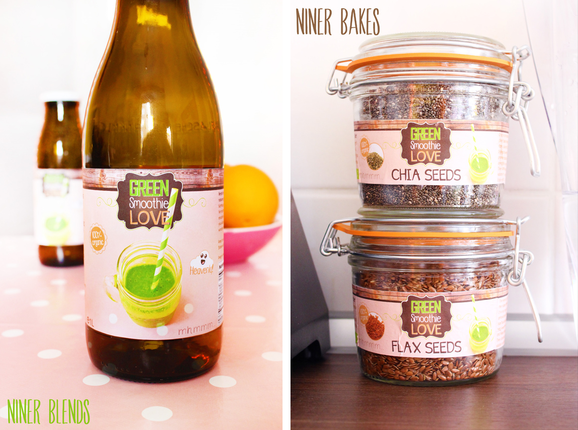green smoothie labels by niner bakes niner blends - beginners smoothie recipe
