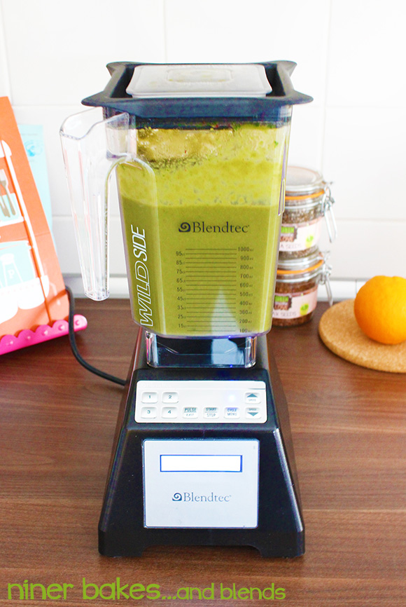 Super Green Smoothie recipe by niner bakes, niner blends, Blendtec Blender