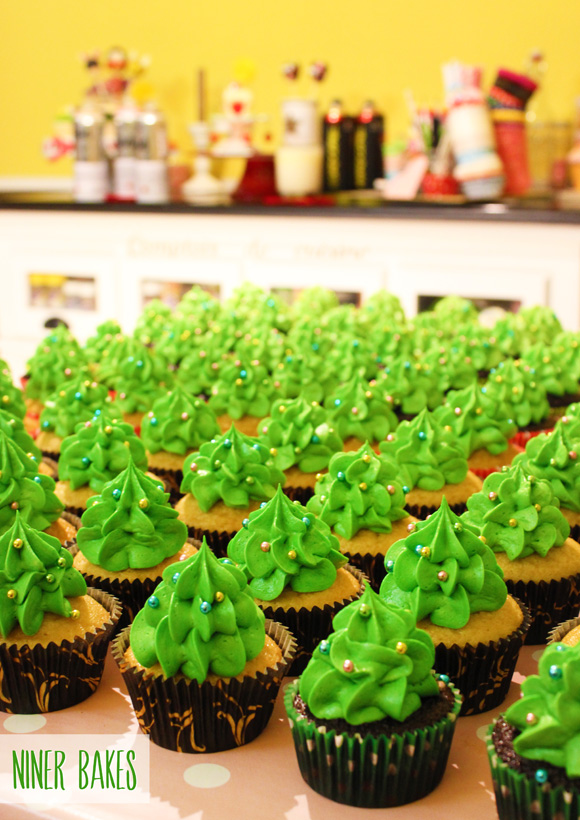 christmas weihnachts christmastree cupcakes tutorial - niner bakes