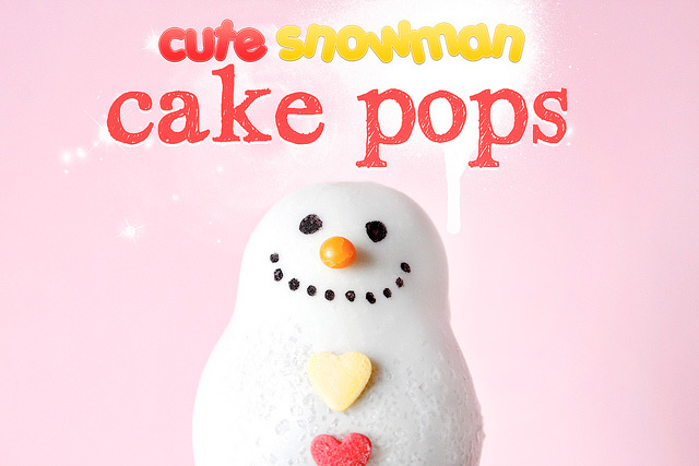Cute and Lovely Christmas Snowman Cake Pops by niner bakes