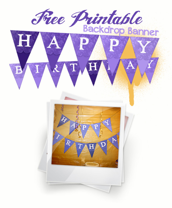 Free Printable - Birthday Banner Back Drop