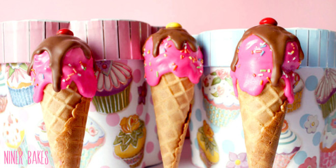 Delicious Ice Cream Cone Cake Pops