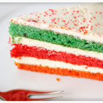 colorful 3 layer cake