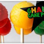 Ghana themed Cake Pops