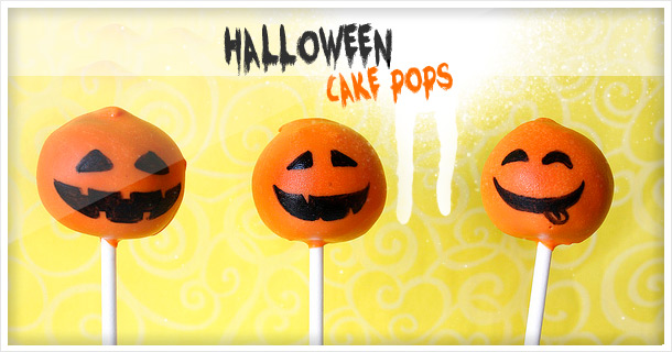 Halloween Pumpkin Cake Pops and Candy Corn Cake Bites