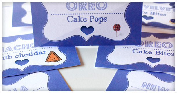 DIY: Make your own food tents for your dessert table (incl. free printable) + sweet, simple Doggy Bags