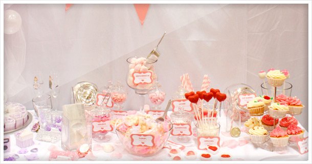 Candy Bar: Cupcakes and Cake Pops for Wedding/Bridal Fair